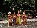 Dancers in Ramayana show, Bali.JPG