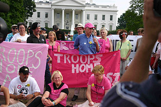 Daniel Ellsberg - Protesting with anti-war group Code Pink in 2006
