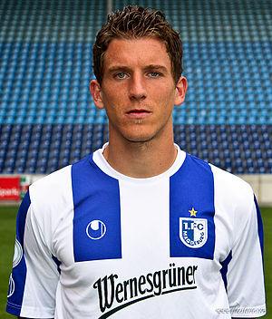 Daniel Bauer - Daniel Bauer in 1. FC Magdeburg's colors