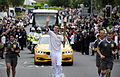 Daniel Maynard, London Olympic Torch-bearer, 25th June 2012, in Batley Yorkshire.jpg
