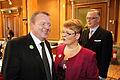 Danmarks statsminister Lars Loekke Rasmussen och Sveriges vice statsminister Maud Olofsson. Nordiska radets session i Stockholm 2009.jpg