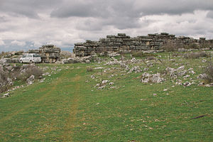 Daorson - These are the remains of the outer walls of Daorson, as seen in 2013.