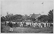 Demonstrators in the Darwin rebellion
