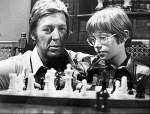 Lucas Tanner - David Hartman as Lucas Tanner with a gifted student, Scott Glaser (Alfred Lutter III), 1974.