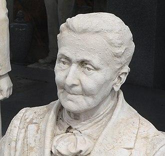 National Register of Historic Places listings in Brown County, Kansas - Image: Davis Memorial (Hiawatha KS) S sculptures 7 SE Sarah