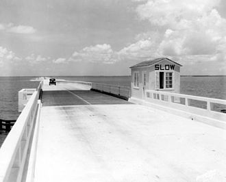 Courtney Campbell Causeway - The Davis Causeway in 1934
