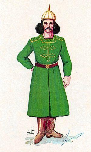 Buyid dynasty - Artistic rendering of a Daylamite Buyid infantryman.