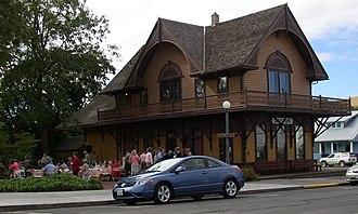 Dayton, Washington - Historic railway depot in Dayton