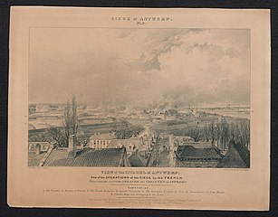 De belegering van de Citadel van Antwerpen door de Franse troepen
