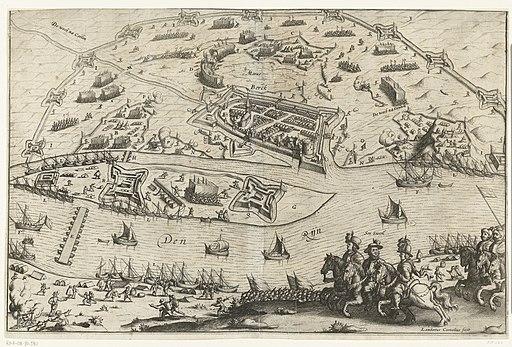 De laatste belegering van Rheinberg door Maurits, 1601, RP-P-OB-80.590