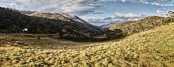 Paysage du parc national du Kosciuszko, en Nouvelle-Galles du Sud. (définition réelle 5372×2072)