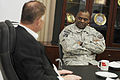 Defense.gov News Photo 101026-D-7203C-004 - Deputy Secretary of Defense William J. Lynn III meets with Commander of U.S. Forces-Iraq Lt. Gen. Lloyd Austin in his office at the USF-I.jpg