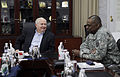 Defense.gov News Photo 110407-F-DQ383-001 - Secretary of Defense Robert M. Gates talks with Commanding General U.S. Forces Iraq Army Gen. Lloyd Austin at the Al Faw palace at Camp Victory.jpg