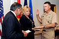 Defense.gov News Photo 110804-D-WQ296-022 - Secretary of Defense Leon E. Panetta swears in Adm. James A. Winnefeld Jr. as the new Vice Chairman of the Joint Chiefs of Staff during a ceremony.jpg