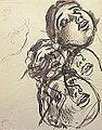 Dehodencq A. - Ink - Etude de têtes - 15.6x19.8cm.jpg