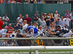 Horse-racing at Del Mar?? Camera: Canon D60, L...