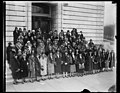 Delegates to Conference On Cause and Cure for War appeal to their Senators. A group of delegates form all over the country who are in Washington to attend the Conference on the Cause and LCCN2016889144.jpg