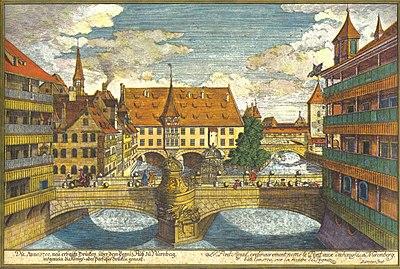 Delsenbach-Brücke über die Pegnitz