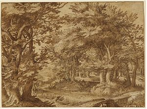 Denis van Alsloot - Forest Landscape with a Distant Castle