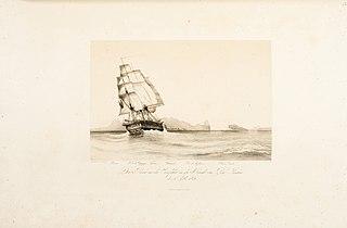 Der Reise an der Einfahrt in die Bucht von Rio - Janeiro, den 5' Septbr. 1842