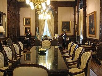 Casa Rosada - Image: Despacho Presidencial argentino 2