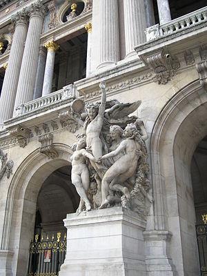 La Danse (Carpeaux) - Image: Detall 3 òpera de parís