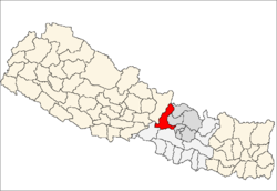 map of Dhading, Nepal