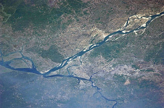 Dhaka - View of Dhaka from the International Space Station