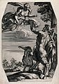 Diana (Artemis) and Pan. Engraving after Annibale Carracci. Wellcome V0035802.jpg