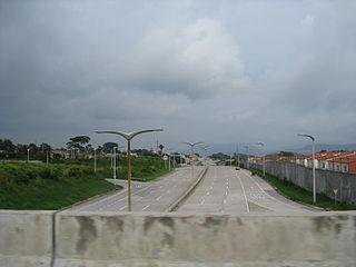 RN-21 (Boulevard Diego Holguin) highway in El Salvador