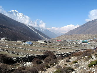 Imja Khola -  Village of Dingboche, in the Imja Khola valley