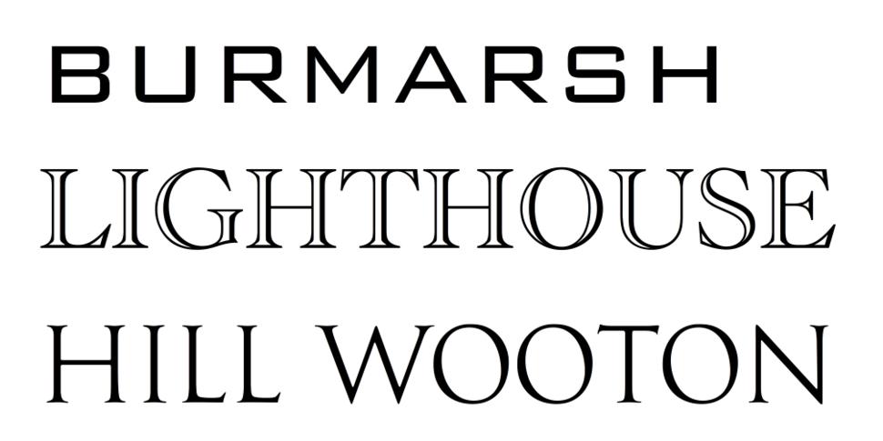 Display typefaces