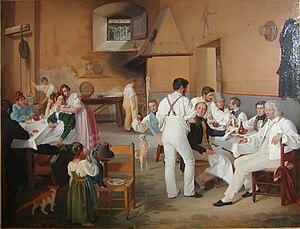 1837 in art - Image: Ditlev Blunck Danske kunstnere på at romersk osteri