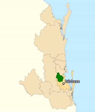 Division of Dickson - Division of Dickson in Queensland, as of the 2016 federal election.
