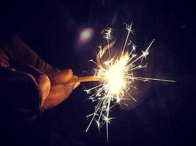Diwali crackers at Vizag beach 3.jpg