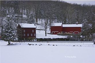 Boonton Township, New Jersey - Dixon Homestead in Winter