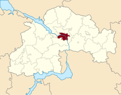 Location in Dnipropetrovsk Oblast