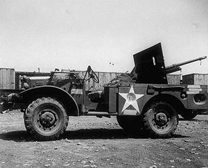 M6 Gun Motor Carriage - Side view of 37 mm GMC M6.
