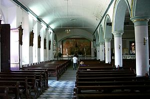 Roseau Cathedral - Spacious interior view of the cathedral.