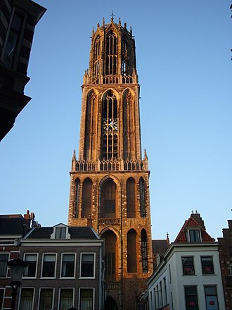 Dom Tower of Utrecht - Dom Tower in evening light.