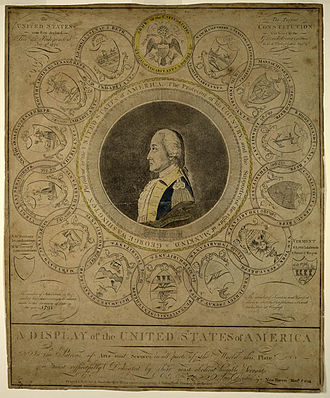 Amos Doolittle - An engraving of George Washington created by Doolittle in 1794