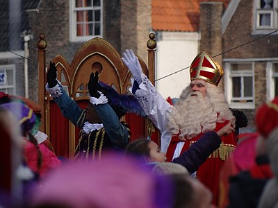 Stefan de Walle als Sinterklaas, 2011