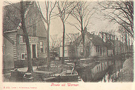 De Dorpstraat in Wormer in 1903