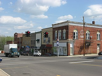 Fredericktown, Ohio - Main Street in the business district