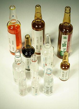 Medicine - Modern drug ampoules