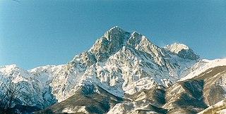 Gran Sasso dItalia Mountain located in the Abruzzo region of central Italy.