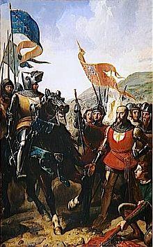 Bertrand du Guesclin à la Bataille de Cocherel.