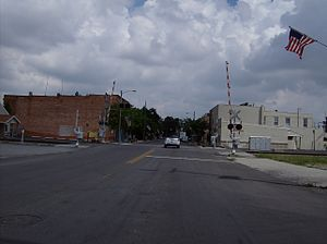 Dunkirk, Ohio - Looking northward along Main Street in downtown Dunkirk