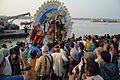 Durga Idol Immersion - Baja Kadamtala Ghat - Kolkata 2012-10-24 1735.JPG