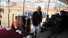 Durlav Kumar Thapa after giving a speech at the National Police Training Academy on 'Academy Day'.jpg
